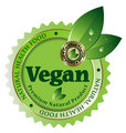 Vegan vector label/sticker/emblem/icon