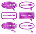 Purple Speech Bubbles