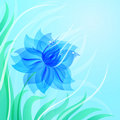 EPS10 azure flower background