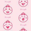 It's a girl pink seamless background with baby girls
