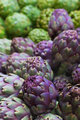 Pile of Italian Artichokes vertical
