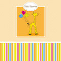new baby shower card with giraffe 