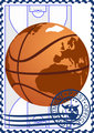 Postage stamp. Basketball
