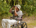 disabled bird watcher