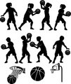 Basketball Silhouettes Kids Boys and Girls