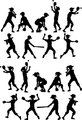 Baseball or Softball Silhouettes Kids Boys and Girls