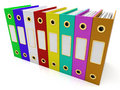 Row Of Colorful Files To Get Organized
