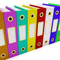 Row Of Colorful Files For Getting Organized