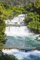 Waterfalls on Krka river in Croatia