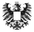 Heraldic style eagle isolated on white