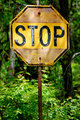 Yellow Stop Sign Up Close-1