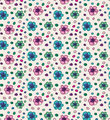 Funny colorful seamless pattern with flowers