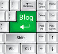 Computer Keyboard With Blog Key