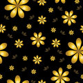 floral wallpaper with set of different flowers.