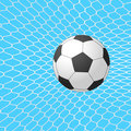 Soccer ball in goal. Vector.