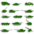 Vector Tanks, artillery and vehicles from second world war  stic