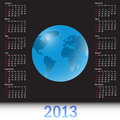 A globe Calendar for 2013 kalender 2013
