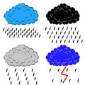 Clouds with precipitation,  illustration