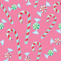 Seamless Candy Cane And Mints