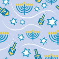 Seamless Hanukkah Pattern