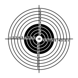 The target for shooting practice stock vector