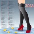 2013 Calendar female legs in stockings