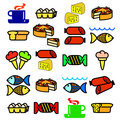 Vector set of food.