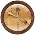 Wooden Clock Lunch Time