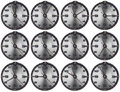 Set of Grunge Metal Clocks