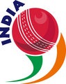 cricket ball flying out with words India