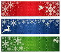 Christmas snowflakes banner backgrounds set