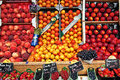 Fresh fruit in the street market, Paris, France