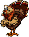 Happy Thanksgiving Holiday Turkey Cartoon Vector Illustration
