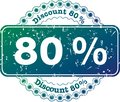 Stamp Discount Eighty Percent