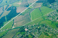 aerial view of houses and...