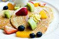 Pancake with fresh fruit