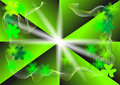 shamrock on a green background