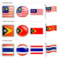 Thailand and East Timor, Malaysia Flag Icon