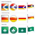 Nagorno Karabakh and South Ossetia, Macau Flag Icon