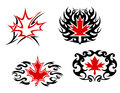 Maple leaf mascots and symbols