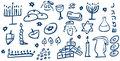 Hanukkah Symbols Doodles