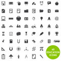 Education icons basics vector
