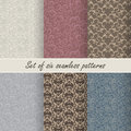 Set of six vector seamless patterns
