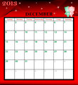 Calendar 2013 December