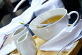 Tea time - green organic tea, white tea service 