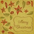 Floral Christmas Card