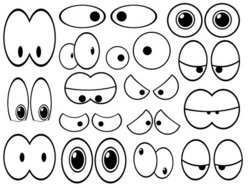 Cartoon Eyes Stock Vector
