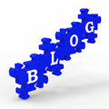 Blog Letters Means Internet Blogging