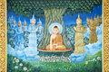 buddhist mural in shwedagon paya yangon myanmar