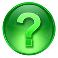 question symbol icon green, isolated on white background. 